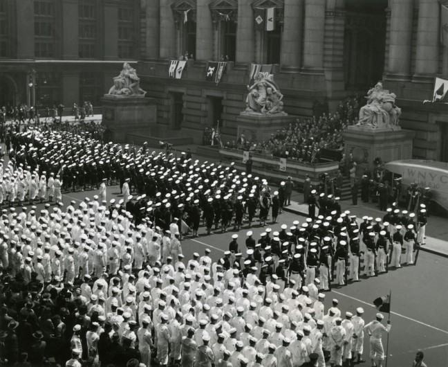 Coast Guard marks Maritime Day in New York, May 22, 1945.