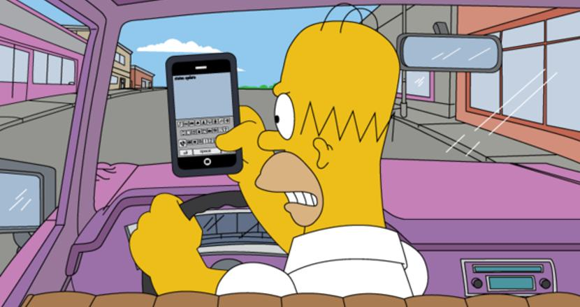 homer-texting-and-driving