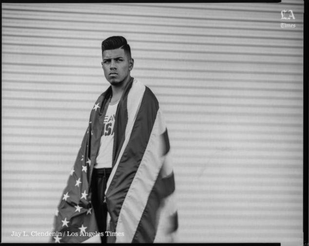 SANTA MARIA, CA --JUNE 16, 2016 -- Carlos Balderas, will compete as a lightweight/132 lbs boxer in the 2016 Rio Olympics and is photographed outside his family gym in Santa Maria, CA, June 16, 2016. (Jay L. Clendenin / Los Angeles Times)