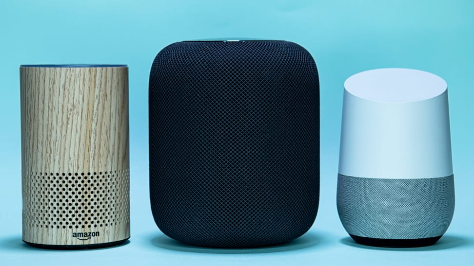 Amazon Echo, Apple Homepod e Google Home / assistentes virtuais