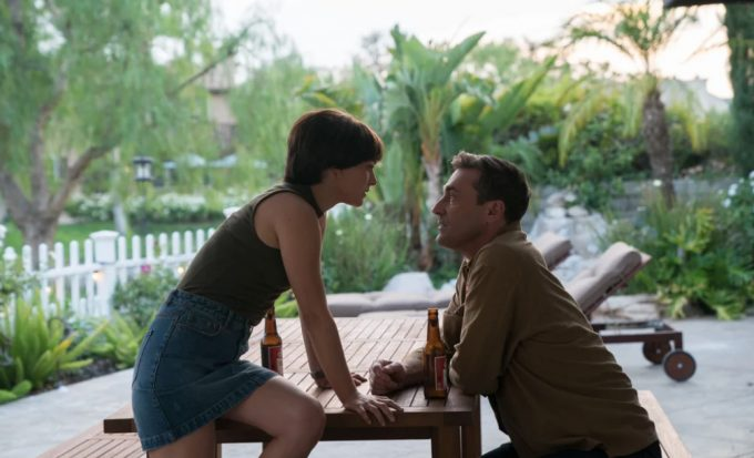 Natalie Portman and Jon Hamm in a scene from Lucy In The Sky