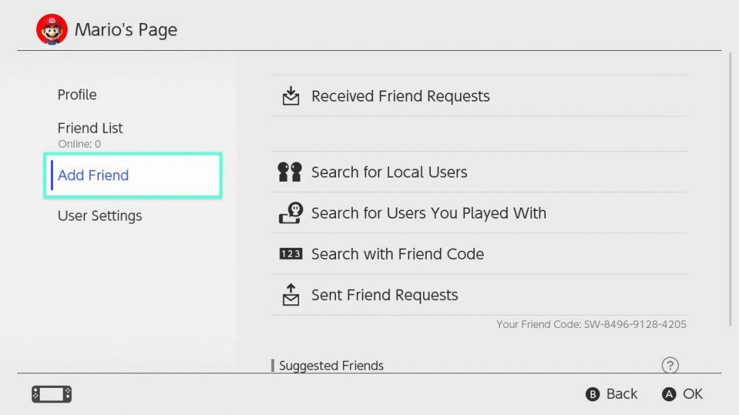 Friend Codes