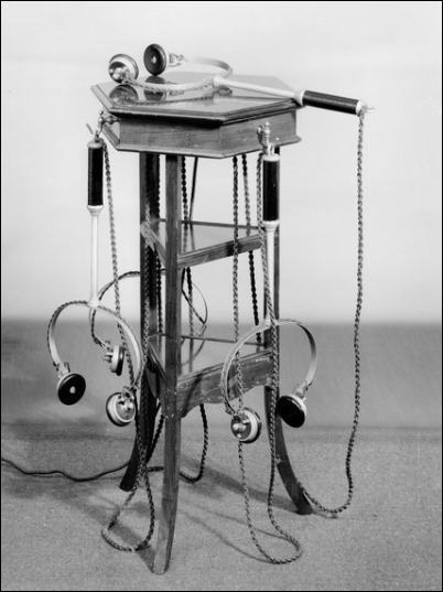 electrophone receivers with stand
