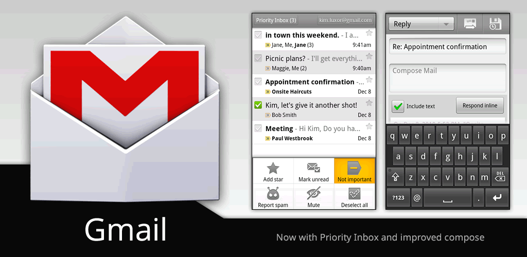 Gmail new message note