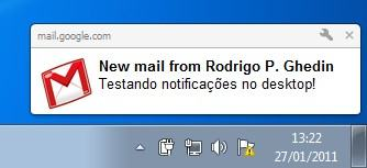 Chegou email!