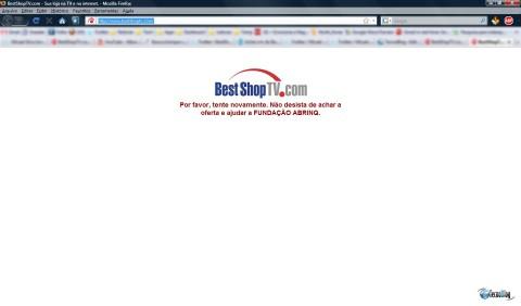 Quem tentava acessar bestshoptv.com via o aviso. (Clique para ampliar)