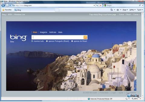 Página inicial do Bing em português. (Clique para ampliar)