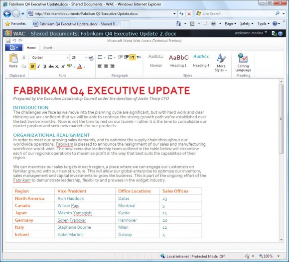 Microsoft Word baseado na web. (Reprodução)