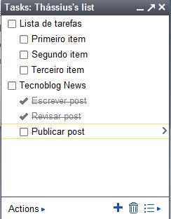 Tarefas no Gmail. (Reprodução)