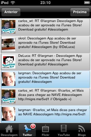 Últimos twits com a tag #descolagem.