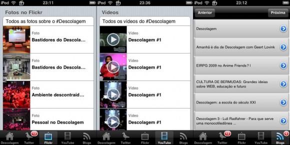 Flickr, YouTube e blogs com tag #descolagem. (Clique para ampliar)