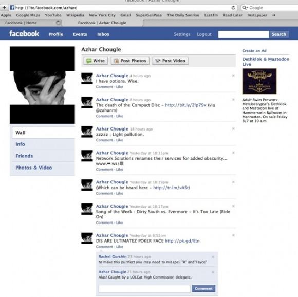 Screenshot do Facebook Lite (Reprodução TechCrunch)