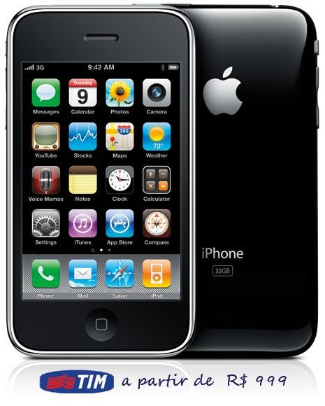 TIM sai na frente e anuncia preços do iPhone 3GS.