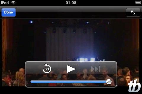 Ao vivo no iPhone: antes do show começar.