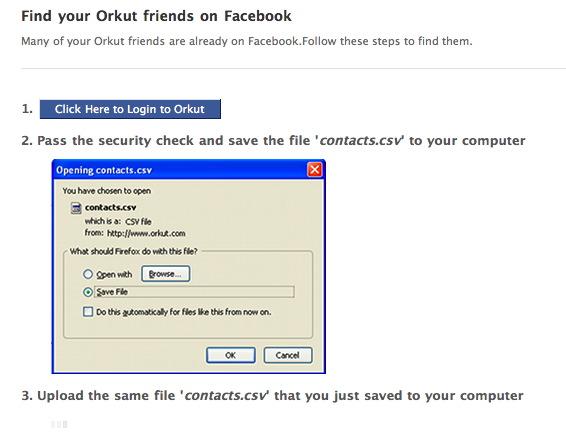 Importe seus amigos do Orkut em 3 passos simples.