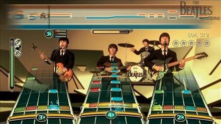 Rock Band Beatles em ação (imagem: Mashable)
