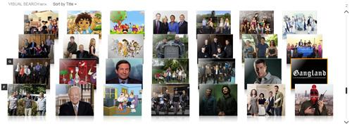 """Exemplo de busca visual na categoria """"Popular TV Shows"""""""
