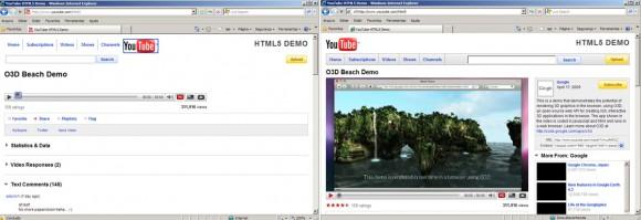 À esquerda, página renderizada sem o plugin ativado.
