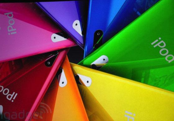 iPods Nano: 9 cores à sua escolha. (Engadget)