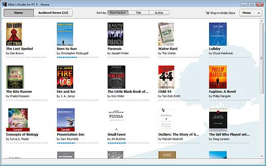 Screenshot do Kindle para PC