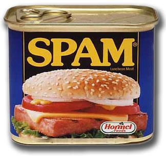 Spam não é legal e aparentemente nem um pouco apetitoso.