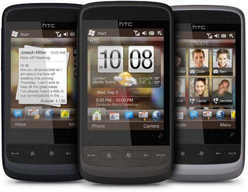HTC Touch 2 rodando Windows Mobile 6.5. (Divulgação)