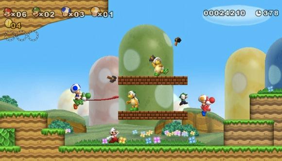 Mario de volta às origens, mas com algumas novidades.