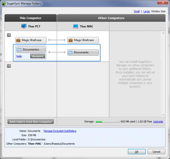 Pasta de documentos do Windows é sincronizada com a do Mac OS. (Clique para ampliar)