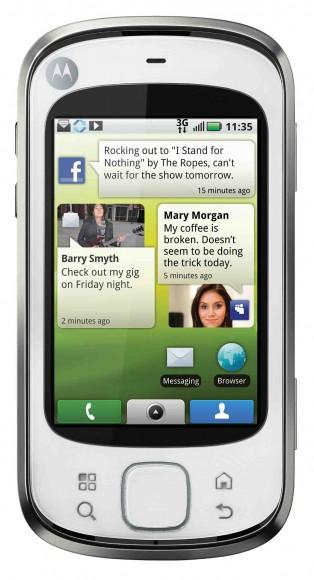 Motorola Quench rodando Android. Clique para ampliar. (Divulgação)
