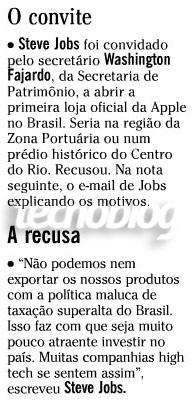 Nota publicada no jornal O Globo. (Reprodução)