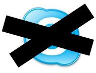 Skype: não pode.
