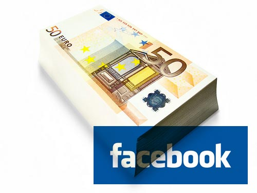 Facebook: queremos o seu rico dinheirinho.