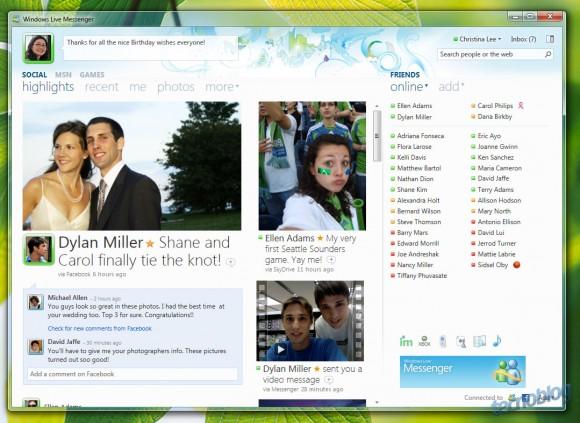 Windows Live Messenger 2010 em funcionamento. (Clique para ampliar/Divulgação)