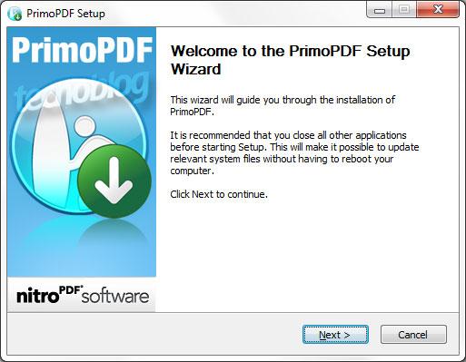 Instalação do PrimoPDF.