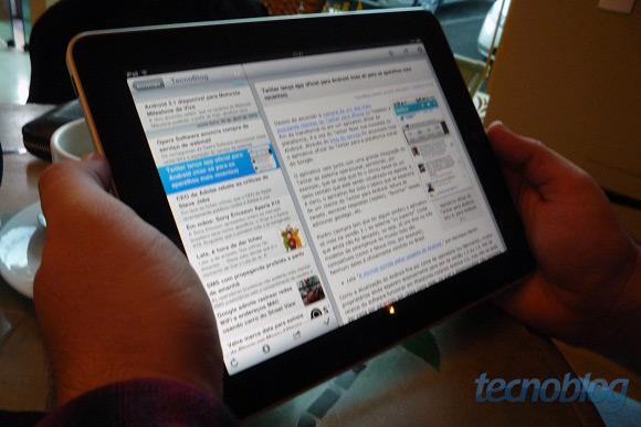 Acessando o TB de um iPad.