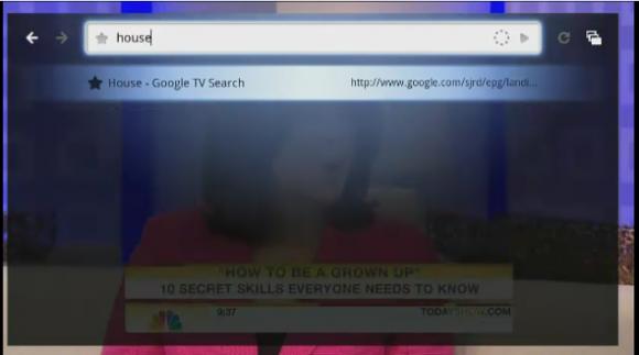 Google TV em funcionamento. Clique para ampliar.