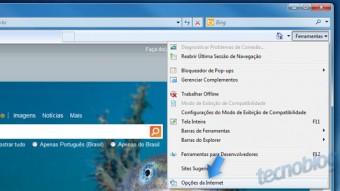Apague o histórico de navegação do Internet Explorer 8