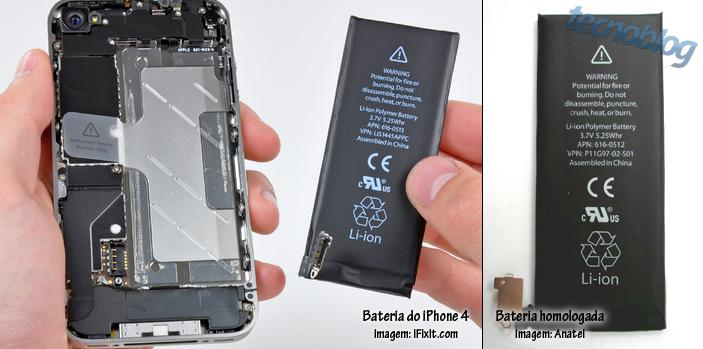 exclusivo bateria do iphone 4  u00e9 aprovada pela anatel