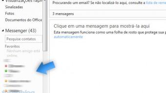 Desative o Live Messenger dentro do Hotmail