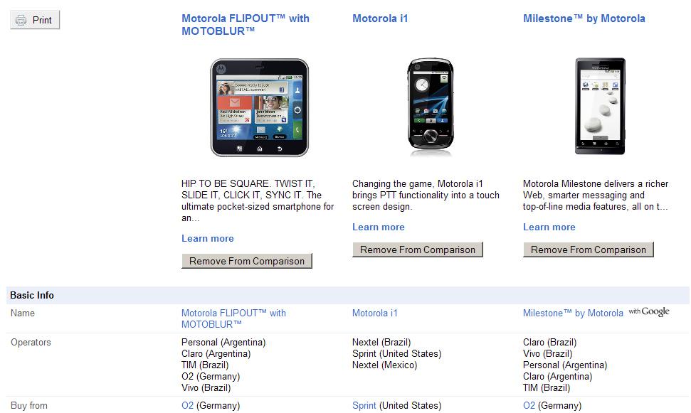 Google te ajuda a escolher Android com o Phone Gallery –