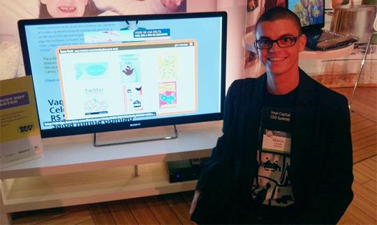 Marco Gomes mostra a Boo-Box rodando em uma Google TV