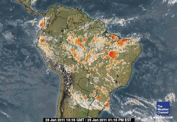 Imagem de satélite do Weather Channel