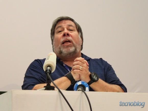 Wozniak durante a Campus Party 2011 (foto: Thássius Veloso / Tecnoblog)