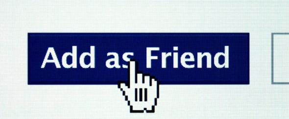 """Botão """"Add as Friend"""" no Facebook"""