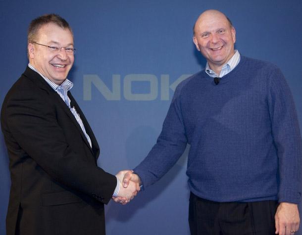 Pouco tempo após a entrada de Stephen Elop, a Nokia fechou uma grande parceria com a Microsoft