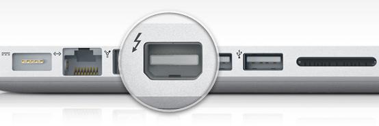 entrada thunderbolt (mini displayport)