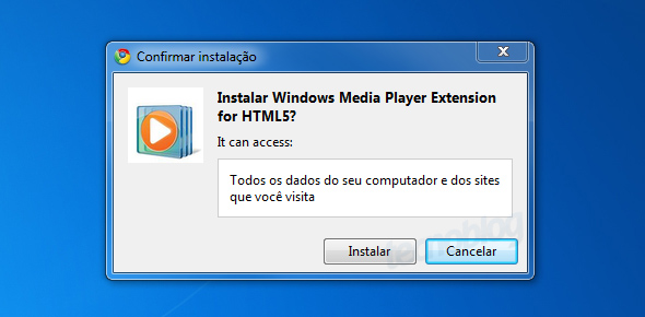 Captura de tela - instalação do plugin