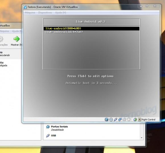 Instalação do Android na máquina virtual