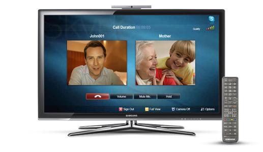 Skype em televisão da Samsung