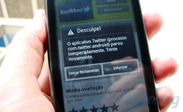 Twitter para Android 2.0.0 trava no Milestone 2